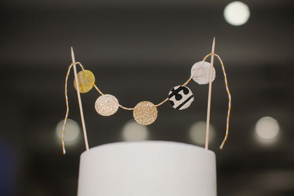 The Cream Event NYC // hole paper punch bunting!
