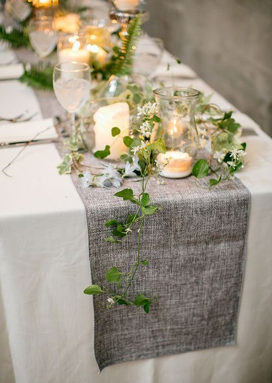 Emulate the luscious, green European countryside with this spring wedding table decoration. Description from save-on-crafts.com. I searched for this on bing.com/images