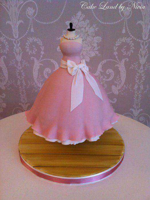 Dress cake  Doll Cakes  Pinterest
