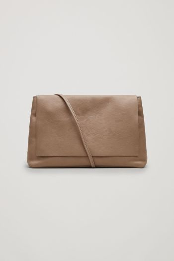 COS Soft leather shoulder bag in Taupe