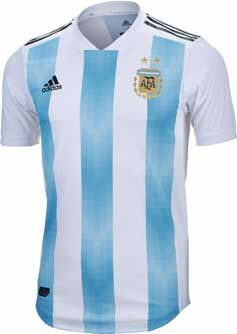 adidas Argentina Authentic 2018 Home Jersey. Buy it from www.soccerpro.com