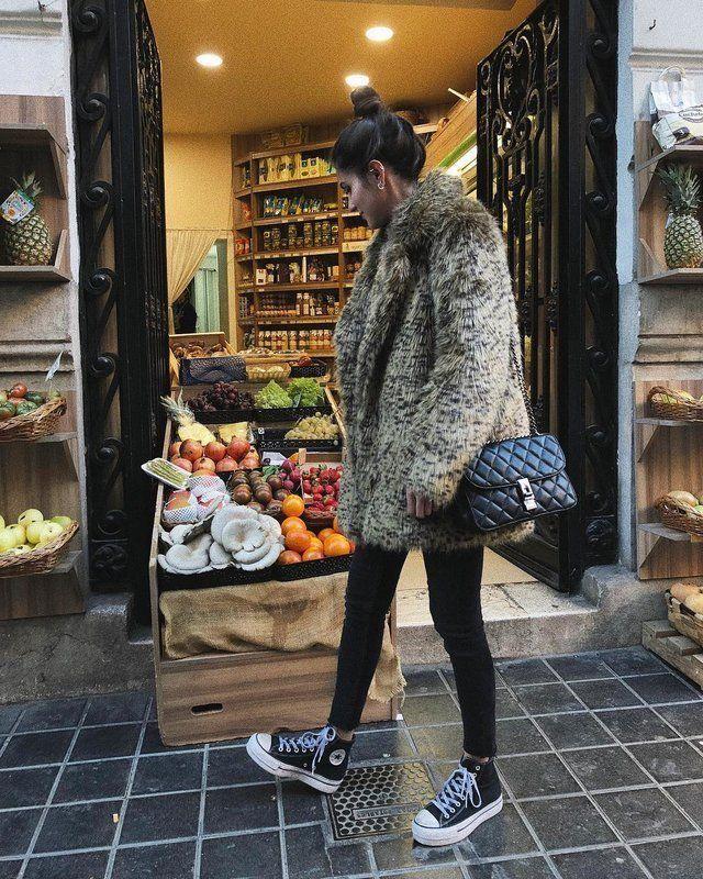 250 Ideas Para Crear Looks Con Converse Todo El Año Entra Al Link Conver Black Converse Outfits Platform Sneakers Outfit Black High Top Converse Outfits