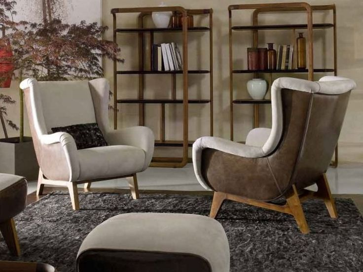 Designer armchair for the fireplace area & a cigar lounge