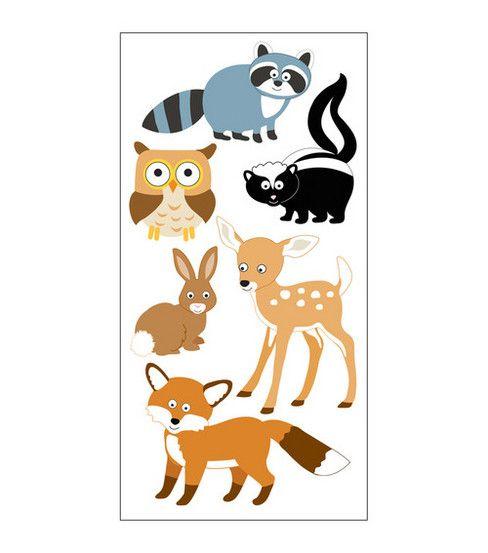 Sandylion Dimensional Stickers-Woodland AnimalsSandylion Dimensional Stickers-Woodland Animals,