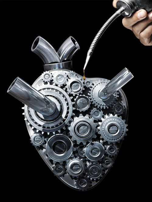 Oiling your Robotic Heart - human body and organs perform like machines - repetitive and perfunctory