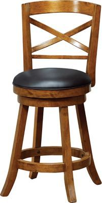 Shop Staples® for Monarch Solid Wood 39''H Swivel Counter Stool, Cross-Back, Dark Oak, 2/Pack and enjoy everyday low prices, and get everything you need for a home office or business. Get free shipping on orders of $45 or more and earn Air Miles&