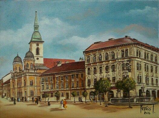 Rybné námestie,  Bratislava, podľa dobovej fotografie