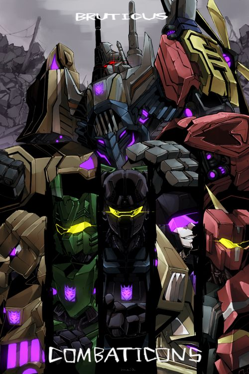 Transformers Fall of Cybertron Combaticons Onslaught, Brawl, Blast off, Swindle, and Vortex.