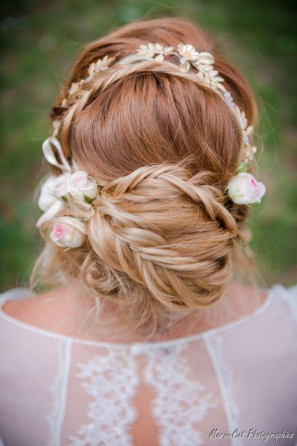 #Bride #bohème #tresse #bohemianbride #mariée #coiffurebohème