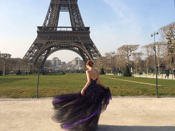 Designer Monique Lhuillier shares snapshots of iconic Paris landmarks, her favorite restaurants, and models showing off some of her best designs.