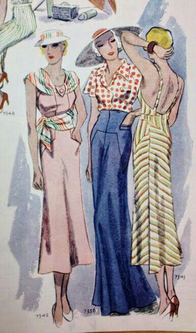 Beach ensembles: McCall 7342, 7356 and 7343 featured in McCall's magazine, May 1933