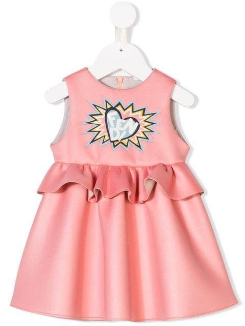 d86a0154c8e Fendi Kids heart logo print dress