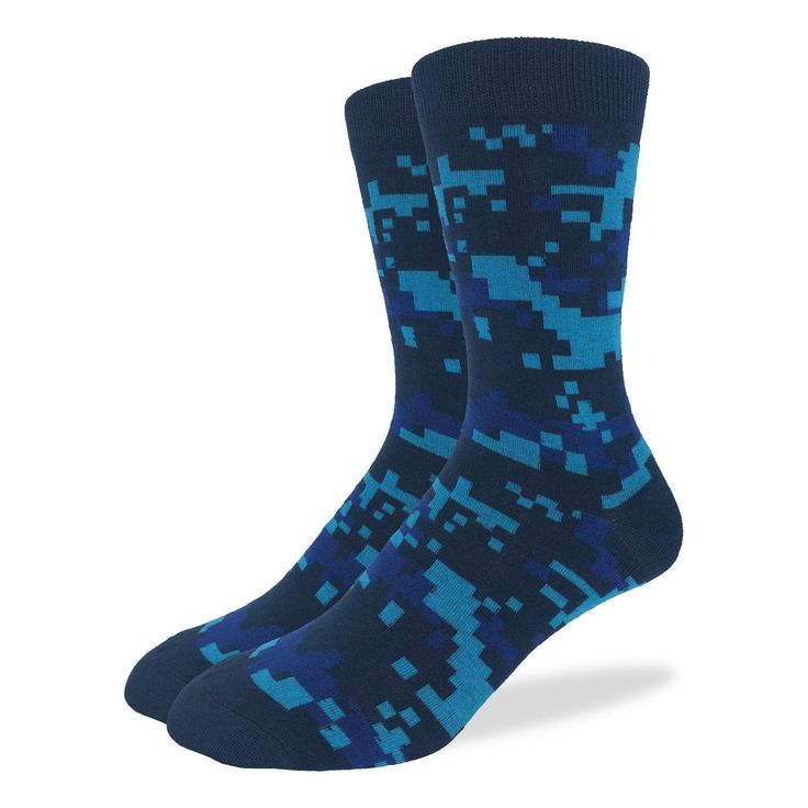 Blue Camo Crew Socks - Good Luck Sock