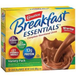 Carnation Breakfast Essentials Complete Nutritional Drink, Packets Variety Pack - 1.26 oz.