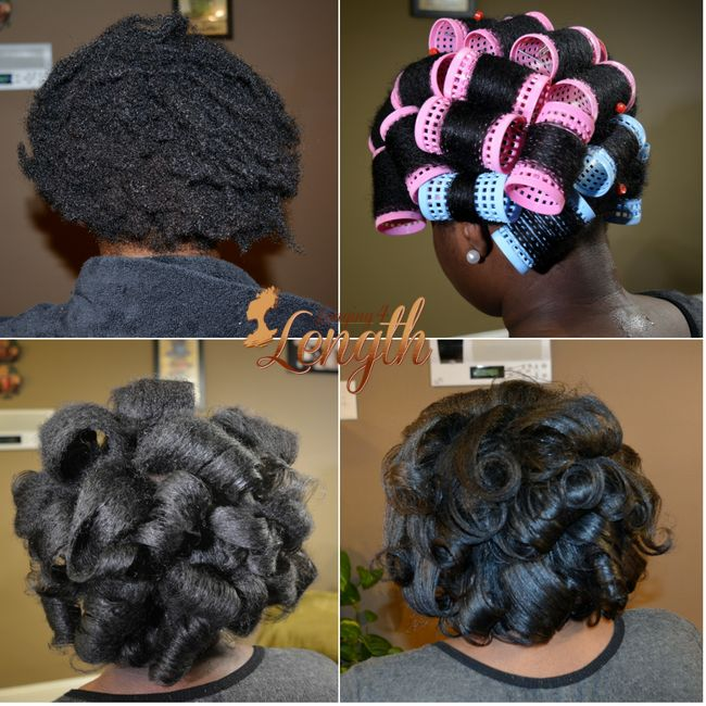 Hourglass Rollers | Step By Step How to Roller Set Natural Hair