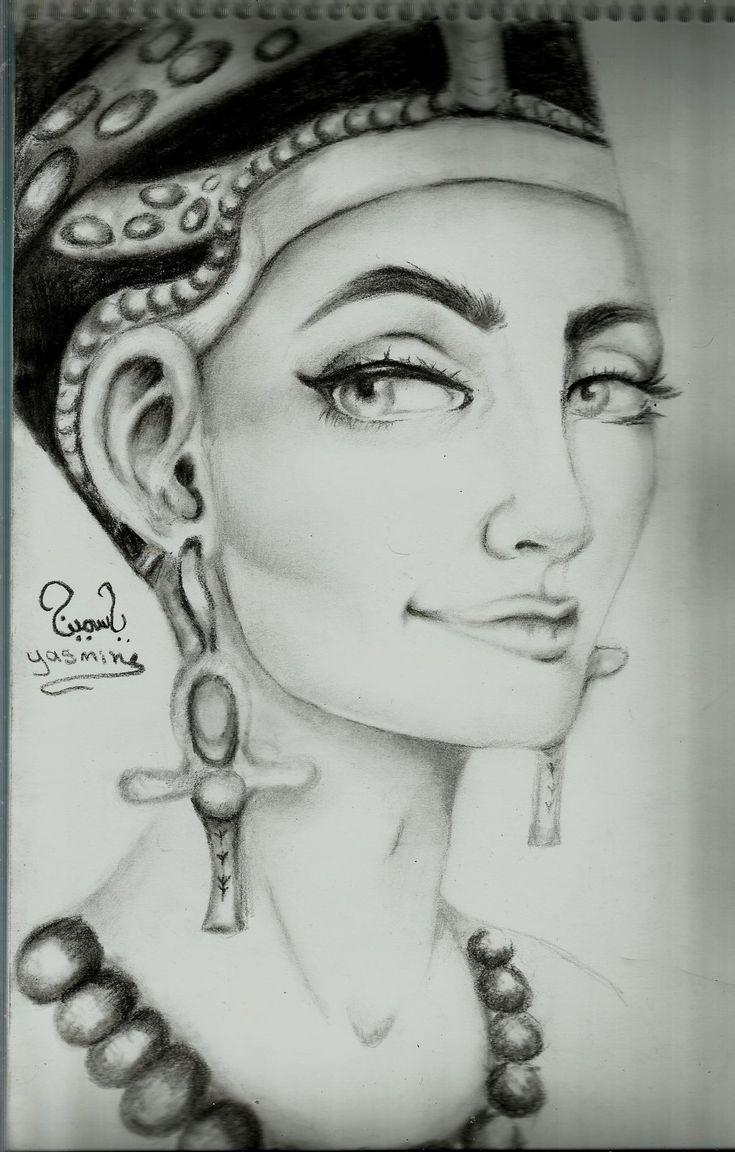 POWER #nefertiti | Nefertiti tattoo, Queen nefertiti ... |Nefertiti Tattoo Drawing