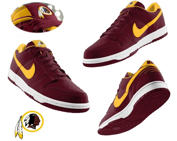 Mens Nike Washington Redskins dunk shoes red  ID:968910618Price : $65 I'd put these on a shelf
