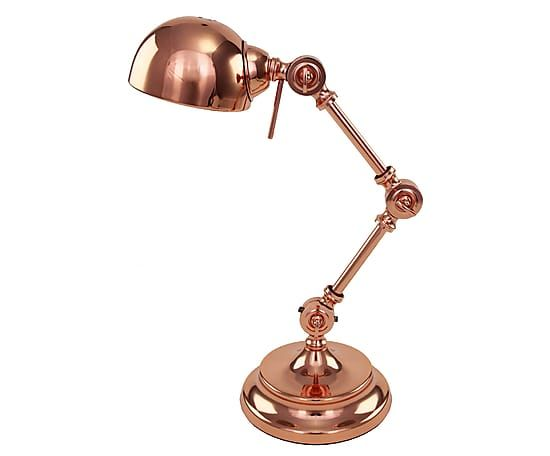 Lampada da tavolo in acciaio rame Armin - H 55 cm