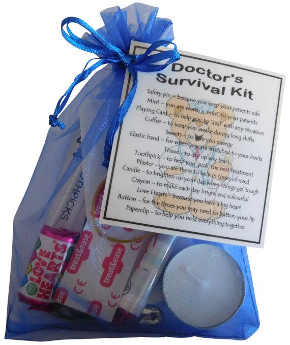 Doctor's Survival Kit Great gift for Doctor Gift by ...