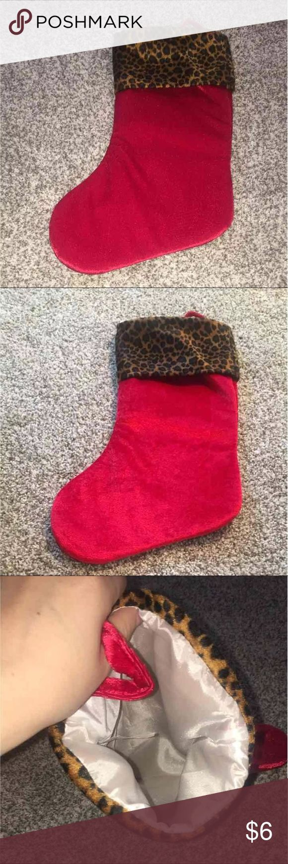 Stocking Leopard and red stocking. Used once. Like new. Pics with and without flash Accessories