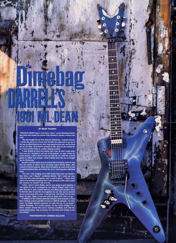 Dimebag Darrell's 1981 ML Dean Guitar Poster - Pantera - Retro Music Poster - Vintage Music Decor - Music Room Decor - Music Gift by MusicSellerz on Etsy