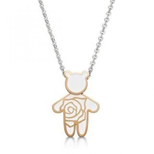 Rose Kenny Bear Necklace Ip Rose Gold - One Size