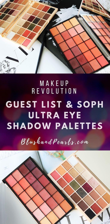 Makeup Revolution: Soph x MUR Ultra Lidschatten-Palette & Gästelisten-Palette # colo …   – fasıon