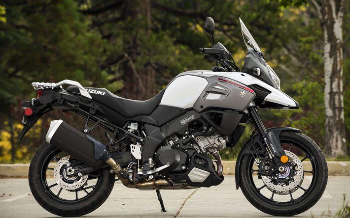 Download imagens 4k, Suzuki V-Strom 1000, enduro, 2018 motos, sbk, moto aventura, Suzuki