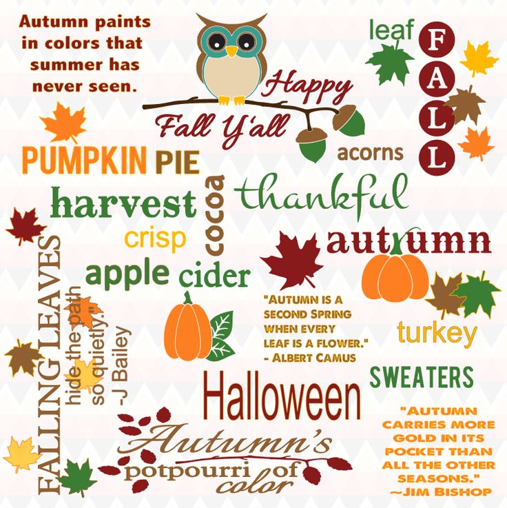 WORDS TO INSPIRE AUTUMN CRAFT CREATIONS BY The Art of Creativity Studio