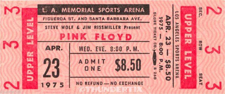 5 1972 77 Pink Floyd Vintage Unused Full Concert Tickets Scrapbooking Bonus | eBay