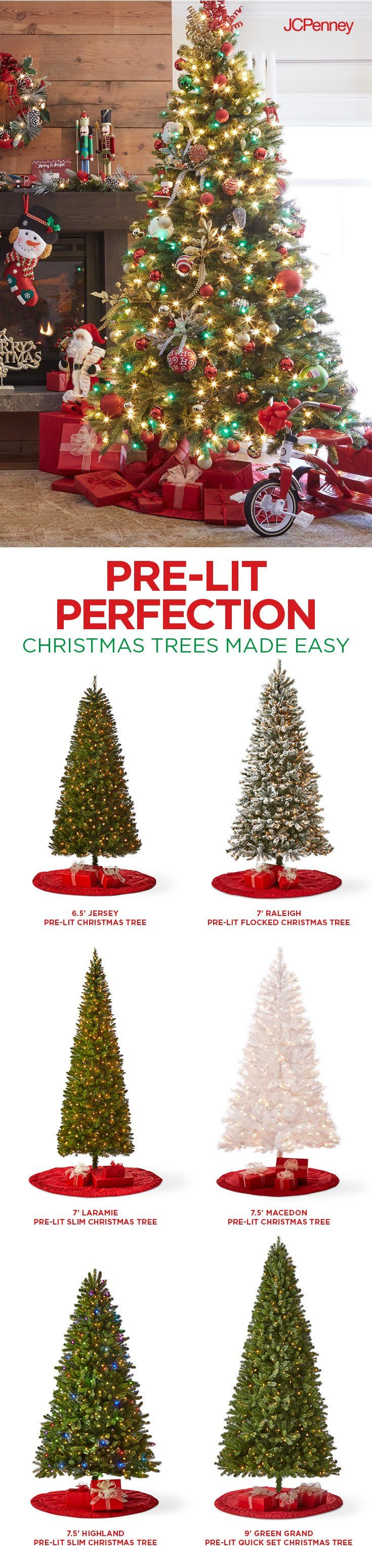Tap to Shop!// Christmas officially kicks off when trimming the tree begins. Leave more time for the decorating everyone loves when you start with an out-of-the-box-ready, pre-lit Christmas tree. Lights done, all fun.