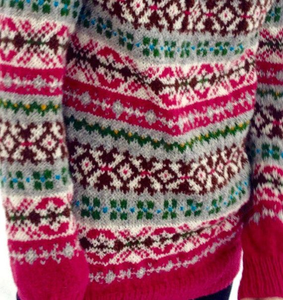 Fair Isle sweater Women's sweater Multicolour sweater от adaLV