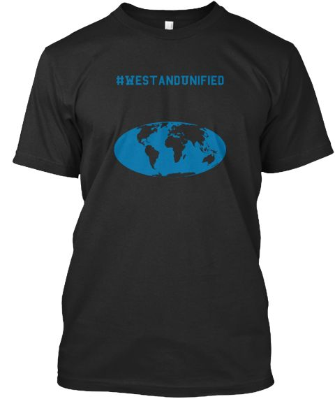 #We Stand Unified Black T-Shirt Front