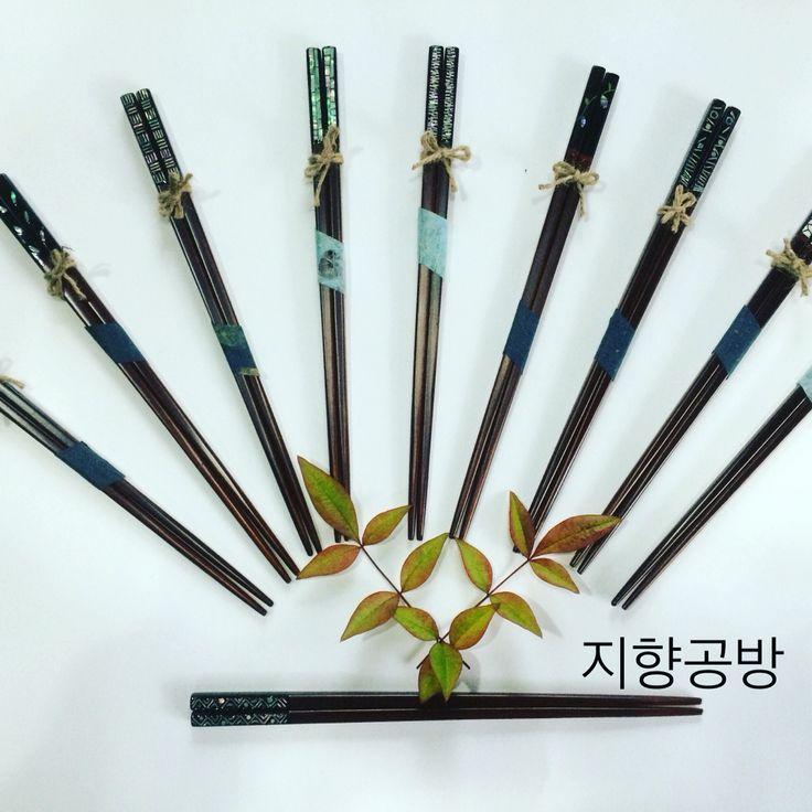 옻칠나전 젓가락 wood chopsticks