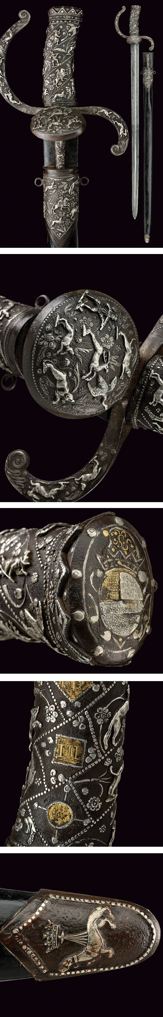 An important and exceptional hunting sword. DAGGERS provenance: Germany dating: third quarter of the 16th Century.