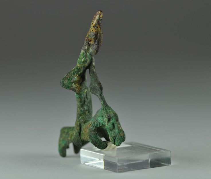 Amlash bronze horse and horseman, 1st millenium B.C. 4.4 cm high. Private collection