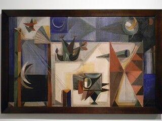 """Elementos bajo un eclipse. Enrique Grau 1957 ganador del premio """"Salón Nacional de Artistas de Colombia"""""""