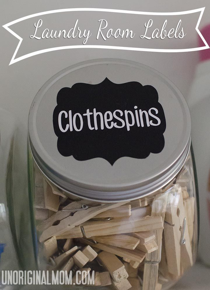 Laundry Room Labels with your Silhouette | unOriginalMom.com