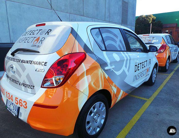 Detector Inspector   Hyundai i20 #vehiclewrap #AutoSkin #driveyourbrandhome