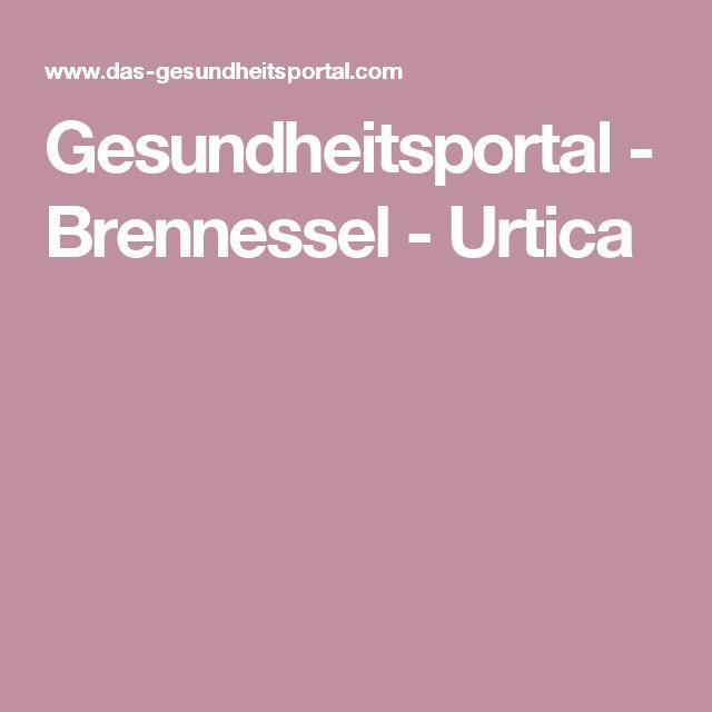 Gesundheitsportal - Brennessel - Urtica