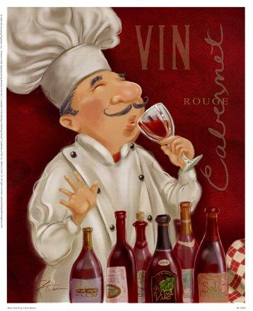 Wine Chef III by Shari Warren art print