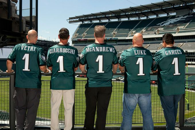 Philadelphia star chefs Marc Vetri, Pete Ciarrocchi, Peter McAndrews, Tony Luke, Jr. and Jose Garces now serve up fare at Lincoln Financial Field, home of the Eagles.