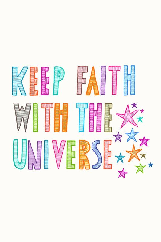 Original Drawing Art Illustration Inspirational Hand Drawn Typography Multicoloured Universe Font Stars on Etsy, $25.00