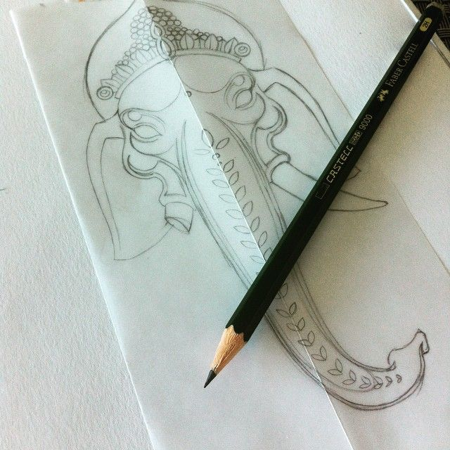 Work hard, play hard ! #draw #drawing #ganesh #ganesha #head #art #pencil #sketch #sketching #instartist #elephant #tattoo #tattoos #dessin #tete #visage #crayon #esquisse #croquis