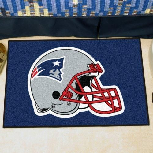 19 X 30 NFL Patriots Door Mat Printed Logo Football Themed Sports Patterned Bathroom Kitchen Outdoor Carpet Area Rug Gift Fan Merchandise Vehicle Team Spirit Blue Red Silver White Nylon