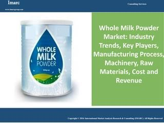 Global Whole Milk Powder Market Grew At a CAGR of Around 3.4% During Last Few Years  Due to its longer shelf-life, usage in producing recombined milk, flourishing food-manufacturing industry and population growth the Whole Milk Market grew at a CAGR of around 3.4% during 2008-2015 reaching a volume of 4.9 Million Metric Tons in 2015. IMARC Group's report on the Global Whole Milk Market analyses historical trends and gives predictions regarding the future of the market with drivers, major…