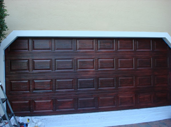 Faux Wood Cladding Garage Door Garages Pinterest