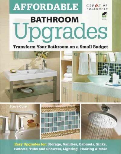 Affordable bathroom upgrades tramsform your bathroom on a for Bathroom upgrades