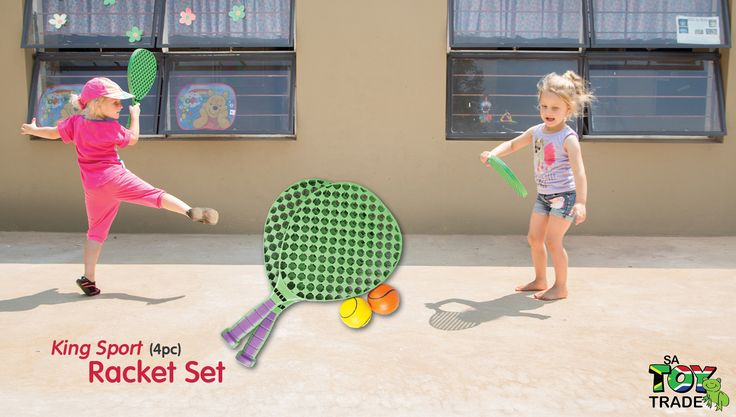 This racket sports set comes with two tennis racquets and a soft tennis ball, which come in a handy carry case. All of this makes an ideal first tennis set. This Soft Tennis Set is a great way to encourage active play, while developing hand-eye co-ordination. Great for any yard or beach play. For ages 3+.