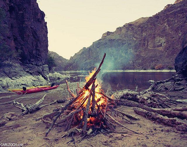 bonfire, camping